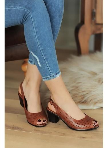 Pembe Potin A610-20 Kadın sandalet A610-20 Taba